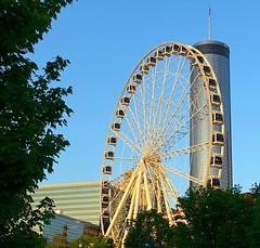 SkyView Atlanta (Colorado Sands) Tags: ferriswheel atlanta georgia usa sandraleidholdt city wheel america us centennialpark skyviewatlanta skyview skyviewferriswheel nw 168luckiestnw amusementride landmark attraction