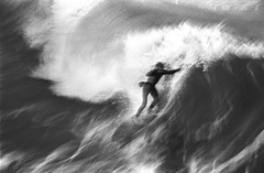Seal Beach Surfer - December, 1972 (49er Badger) Tags: sealbeach surfer surfing breakingwave sealbeachpier 1972