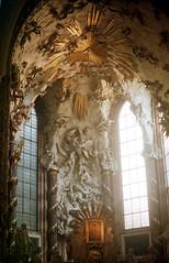 Michaelerkirche (//sarah) Tags: film minoltasrt100 austria österreich vienna wien church kirche catholic katholische michaelerplatz michaelerkirche romanesque gothic