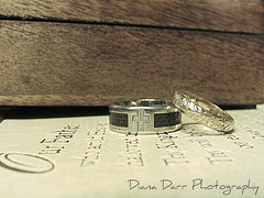 Our Father (dianadarr_photography) Tags: wedding rings god love prayer christian vows golden cross