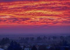 IMG_2492 sunset on my village (pinktigger) Tags: sunset sky cllouds landscape fagagna feagne friuli italy italia