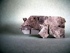 2D Hippo - Marc Vigo (Rui.Roda) Tags: origami papiroflexia papierfalten hipopotamo hippopotamus 2d hippo marc vigo