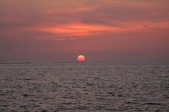 Sunset. (Crazy Rudie) Tags: water eos40d eos canon orange sea zee netherlands nederland zeeland brouwersdam zonsondergang sunset