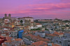 Bird's eye view of Porto (ferreira.ajbf) Tags: city porto portugal birdseye color sunset pink clouds sky buildings historic downtown river bridge landscape cityscape light