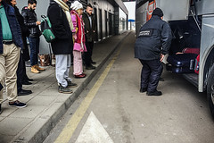 Waiting at customs (Melissa Maples) Tags: капитанандреево kapitanandreevo българия bulgaria europe apple iphone iphone6 cameraphone border bordercrossing bordercheck customs vehicle bus cargo cargohold winter