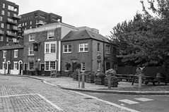 The Pilot (D_Alexander) Tags: uk england london southlondon southeastlondon greenwich northgreenwichpeninsula thepilot pub londonpubs blackandwhitephotography