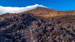 Staircase to the Top (stefannik) Tags: climb climbing trail mountain mount cold up walk trailing stairs awesome nature naturaleza newzealand tongariro crossing alpine alpinecrossing rocks volcanic volcano landscape nikon tokina wideangle wide
