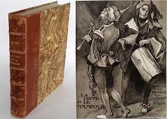 La flûte et le tambour,  Ferdinand Bac, Hachette, 1939 (Kean105) Tags: livresanciens vieuxlivres antiquebooks dessin caricature gravure