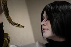 _DSC9665 (In Costume Media) Tags: orochimaru cosplay costume newcon newcon5 pdx naruto shippuden jiraiya kakashi sensei ninija cosplays cosplayers evil snake fight dark green eyes