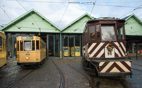 Snowplough tram.