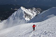 Veliki Draski vrh ski ascent (Vid Pogacnik) Tags: slovenia slovenija julianalps pokljukagroup tourskiing skitouring snow spring outdoor landscape velikidraskivrh mountain mountainpeak