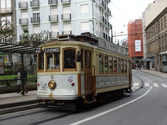 STCP 131 Guil G Fernandes (Guy Arab UF) Tags: stcp 131 1910 jg brill built brill23 type 4wheel semi convertible tram rebuilt with extended platforms praca guilherme gomes fernandes porto oporto portugal electricos trams