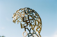 74050033 (alexdotbarber) Tags: 12800 35mm carlzeissplanart50mmf14 contaxaria jaumeplensa kodakportra160 louisiana noma neworleans neworleansmuseumofart overflowxi slr sydneyandwaldabesthoffsculpturegarden colornegative f28 letters sculpture