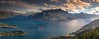 Sunset at Lake Wakatipu (Miss Basil85) Tags: queenstown lakewakatipu otago southisland newzealand nz lake mountain mountains nature panorama landscape evening summer sky clouds travel gondola nikon d3200