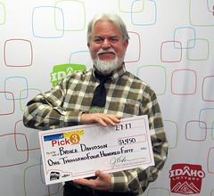 Bruce Davidson - $1,450 Idaho Pick 3 (Idaho Lottery) Tags: idaholottery wooh brucedavidson boiseidaho idahopick3 jacksons