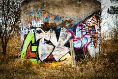 Messages (HWW) (13skies) Tags: happy happywallwednesday silo oldsilo graffiti kw fischerhallmanrd painted old