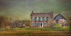 Gardner-Dunton House circa 1830 (Holly Cawfield) Tags: gardnerduntonhouse mississauga britannia peelboardofeducation fieldcentre ontario redbrick architecture heritage georgian conoverbarn hwy10 hurontariostreet