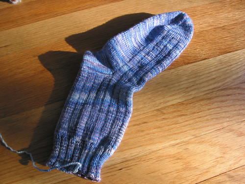 Gram's sock - first sock done