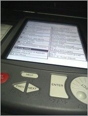 Electronic Voting Machine (ניקולס) Tags: galveston island election texas technology slate vote republican electronic democrat primary democratic voting voter ballot electronicvoting eslate