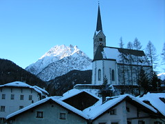 Morning - Scuol Sot church