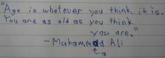 Muhammad Ali Left-Handed (jceddy) Tags: handwriting quote muhammadali lefthanded ambidextrous