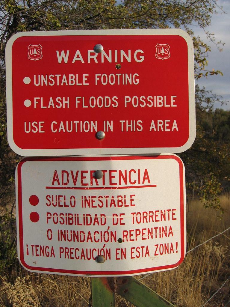 warning, no mexicans