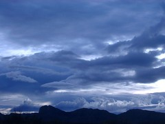 They roll in, without a sound (Esther17) Tags: blue light shadow sky cloud white storm nature clouds brewing driveby specnature