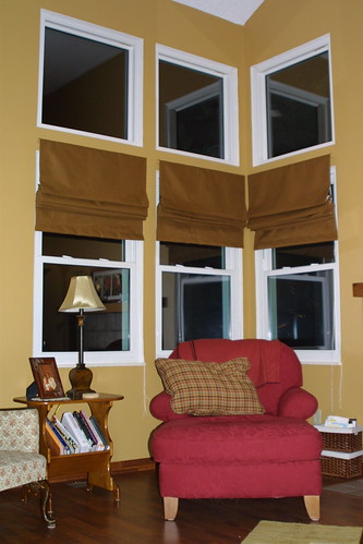 Roman Shades for the living room