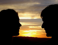 a conversation at sunset (miss_kim) Tags: deleteme5 sunset deleteme8 deleteme2 deleteme3 deleteme4 deleteme6 deleteme9 deleteme7 silhouette deleteme10 deleteme1