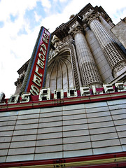 Coming Soon (sbaracchina) Tags: cloud cinema tag3 taggedout clouds marquee losangeles theater tag2 tag1 columns broadway movietheater losangelestheater moviepalace firstthought