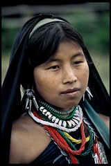 MYANMAR (BoazImages) Tags: travel red portrait woman green topv111 lady colorful asia southeastasia burma tribal myanmar tribe indigenous earing theface travelphotography karenni redkaren