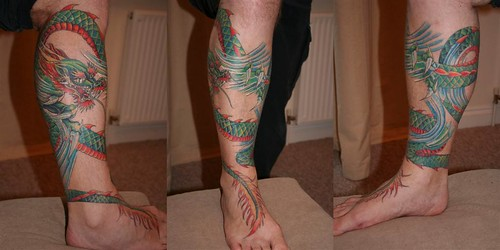 Tagged with tattoo, dragon, leg, jonlaw .