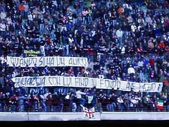 SanSiro saluta i tifosi biancocelesti