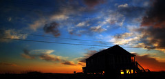 kitty hawk, n.c. (sunrise outtake) (tearapen73) Tags: sky house beach clouds sunrise nc bravo powerlines outer outerbanks banks kittyhawk 52bexact