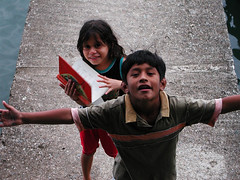 Edi and Victor (hannanik) Tags: tag3 taggedout children book tag2 tag1 play sister brother guatemala junglearctic