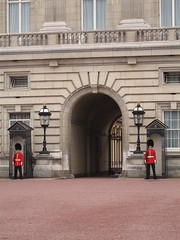 Standing Still. (afrO-) Tags: uk red london standing still palace guards buckingham
