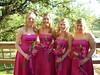 pink bridesmaid style wedding photo