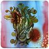 brown/green pod (_roberthardgrave_) Tags: robert ink paper yummy drawing gouache hardgrave