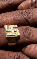 Swastika Ring (premasagar) Tags: india hand symbol swastika fingers ring diamond tamilnadu pondicherry
