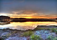 Crab Orchard Lake Sunset (K e v i n) Tags: sunset lake illinois interestingness explore hdr southernillinois photomatix kodakz760 5xp craborchardnationalwildliferefuge