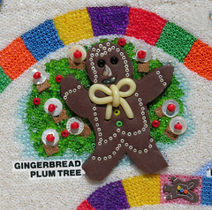 """Candyland - Gingerbread Plum Tree- """"detail view"""" (Peggy Dembicer) Tags: original game art collage ceramic landscape creativity design diy beads artwork candy artistic handmade mosaic mixedmedia unique board creative craft games surfacedesign nostalgia polymerclay fimo clay blogged handcrafted create boardgame beading doityourself embellish craftsmanship beadwork candyland studioart beadart dembicer connecticutartist peggycorallo"""