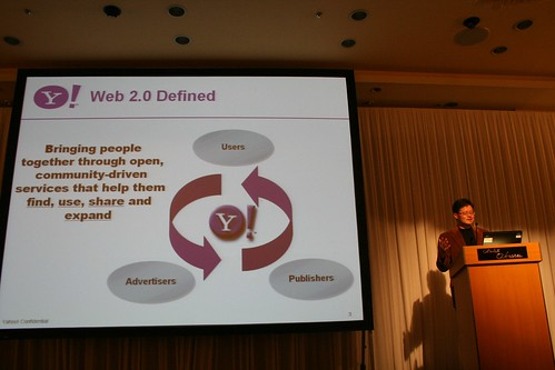 Jerry Yang talking about Web 2.0 at Yahoo! Japan 10th Anniv event