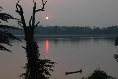 sunset mekong (sama sama - massa) Tags: sunset sun river view laos mekong vientiane