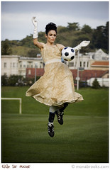 Title IX: Soccer (SFMONA) Tags: sports fashion ball wow goal cool dress action soccer awesome prom gloves 50s concept ideal conceptual coolest peopleschoice womenissues titleix judgementday55 abigfave aplusphoto diamondclassphotographer flickrdiamond superhearts