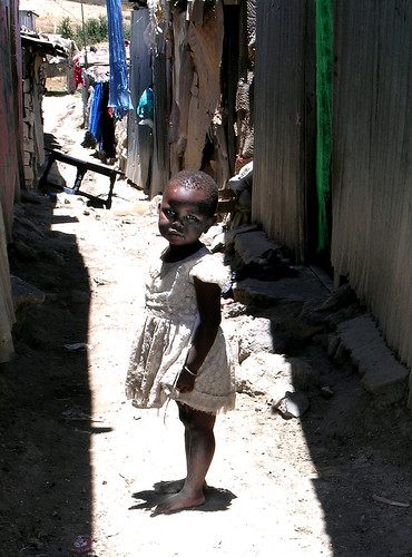 Child in Kenyan slum