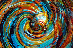 Coloured Dreams (caribb) Tags: ontario canada abstract color colour glass colors beautiful cool nice colours patterns ottawa great multicoloured colored swirl swirls multicolored coloured circular