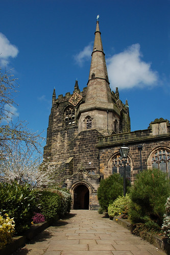 spire and tower