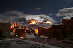 Night Mountain (Bucky O'Hare) Tags: nightphotography sky mountain snow ski france cold art night clouds alpes dark french snowboarding evening skiing nightshot artistic peak val skiresort valley chalet late valthorens chalets thorens frenchalpes threevalleys judgementday60 judgmentday60 valthroen nightmountain