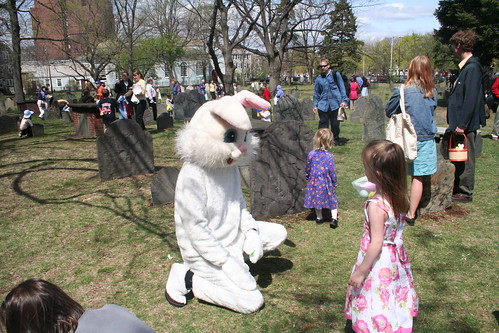 easter egg hunt, old burying ground, cambridge
