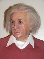 Albert Einstein ponders the theory of relativi...